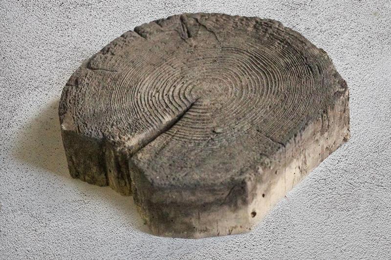 Штучная тротуарная плитка «Спил дерева» малый