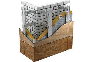 Монтаж фасадов из керамогранита