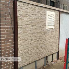 Забор из японских фиброцементных панелей