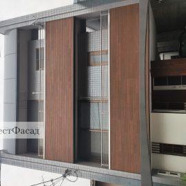 Декоративные вставки на фасад из японских фиброцементных панелей